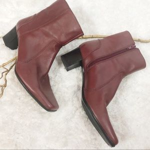 Nine West ankle boots deep red size 8m